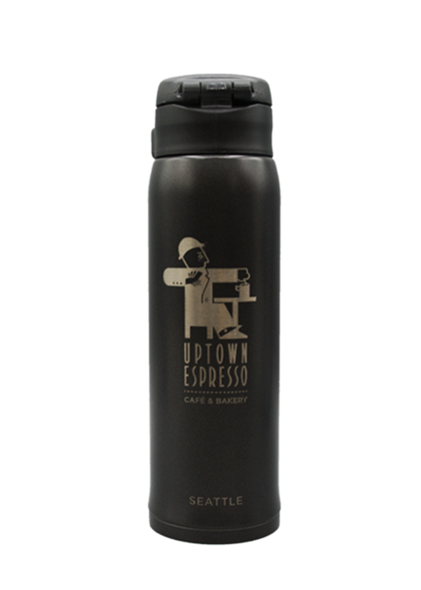 Black Uptown Vacuum Insulated Stainless Steel 16 oz Thermos
