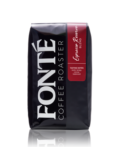 Buy Fonte Espresso Reserve Coffee Blend Available as Whole Bean, French Press, Drip, Melitta, Home Espresso, Commercial Espresso, and Turkish, and Weekly, Biweekly, Monthly or Bimonthly Subscriptions