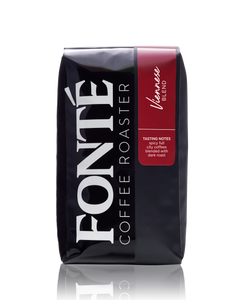 Buy Fonte Viennese Blend Available as Whole Bean, French Press, Drip, Melitta, Home Espresso, Commercial Espresso, and Turkish, and Weekly, Biweekly, Monthly or Bimonthly Subscriptions