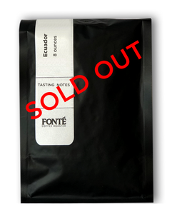Fonte Coffee Roasters Ecuador Finca Cruz Loma Limited Edition Coffee is the perfect Spring time gift for family and friends. Could be a great mothers day gift this May.