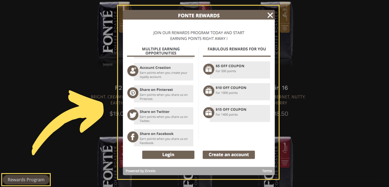 Fonte Rewards Program