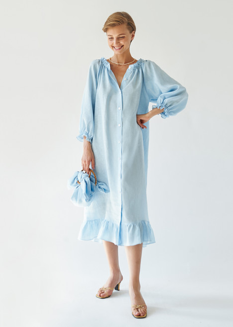 Moonstone Blue Loungewear Dress