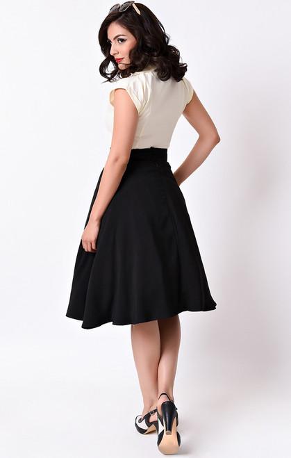 K420 Black Unique Vintage Skirt