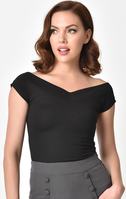 Black Unique Vintage Top