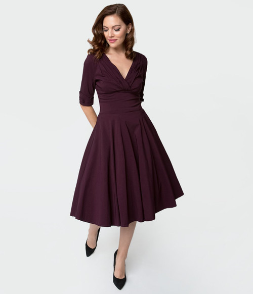 Purple Delores Unique Vintage Dress