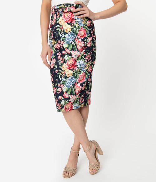 Pastel Floral Unique Vintage Skirt