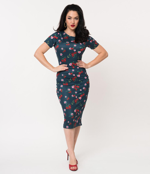 Cherry Print Unique Vintage Dress