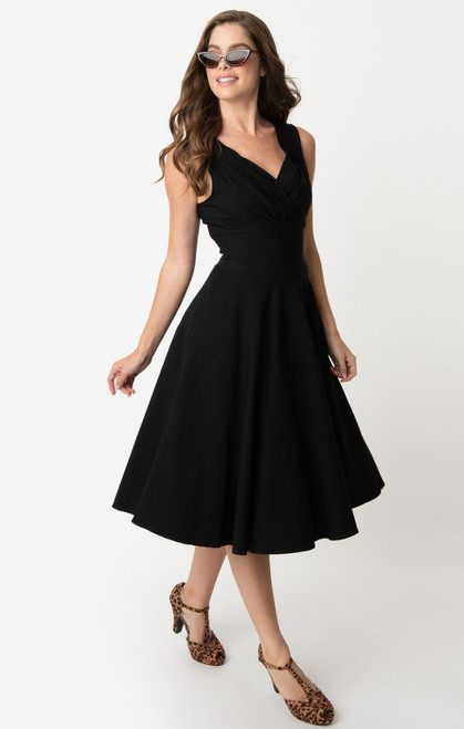 UV 1950s Black Sleeveless Dolores Dress