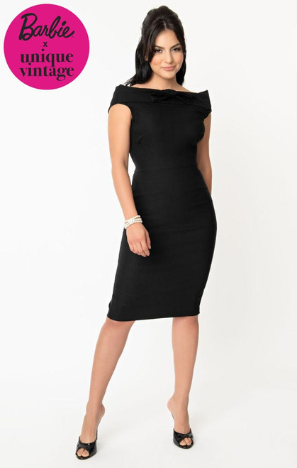 Barbie UV 1960s Black Sheath Dress
