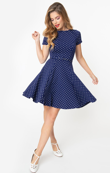 UV Navy & White Stephanie Dress