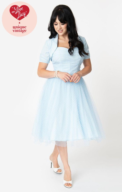 Lucy UV Light Blue Honeymoon Dress