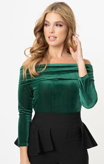 UV Emerald Velvet Nina Top