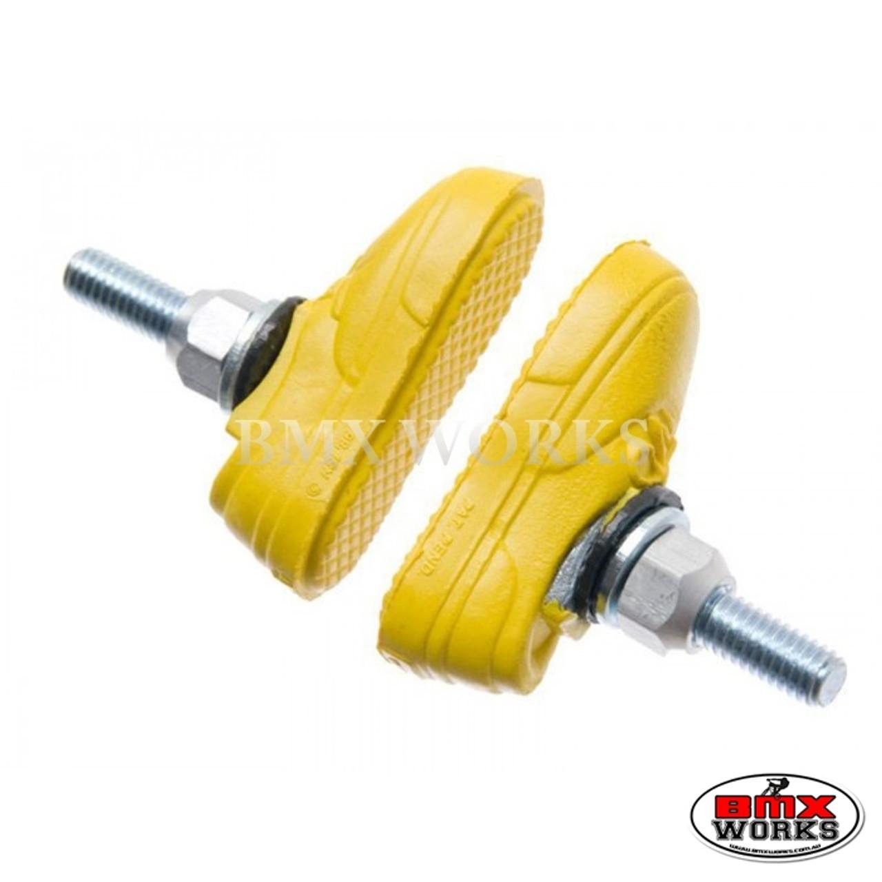 Kool Stop Vans Shoe Threaded Brake Pads Pairs Yellow