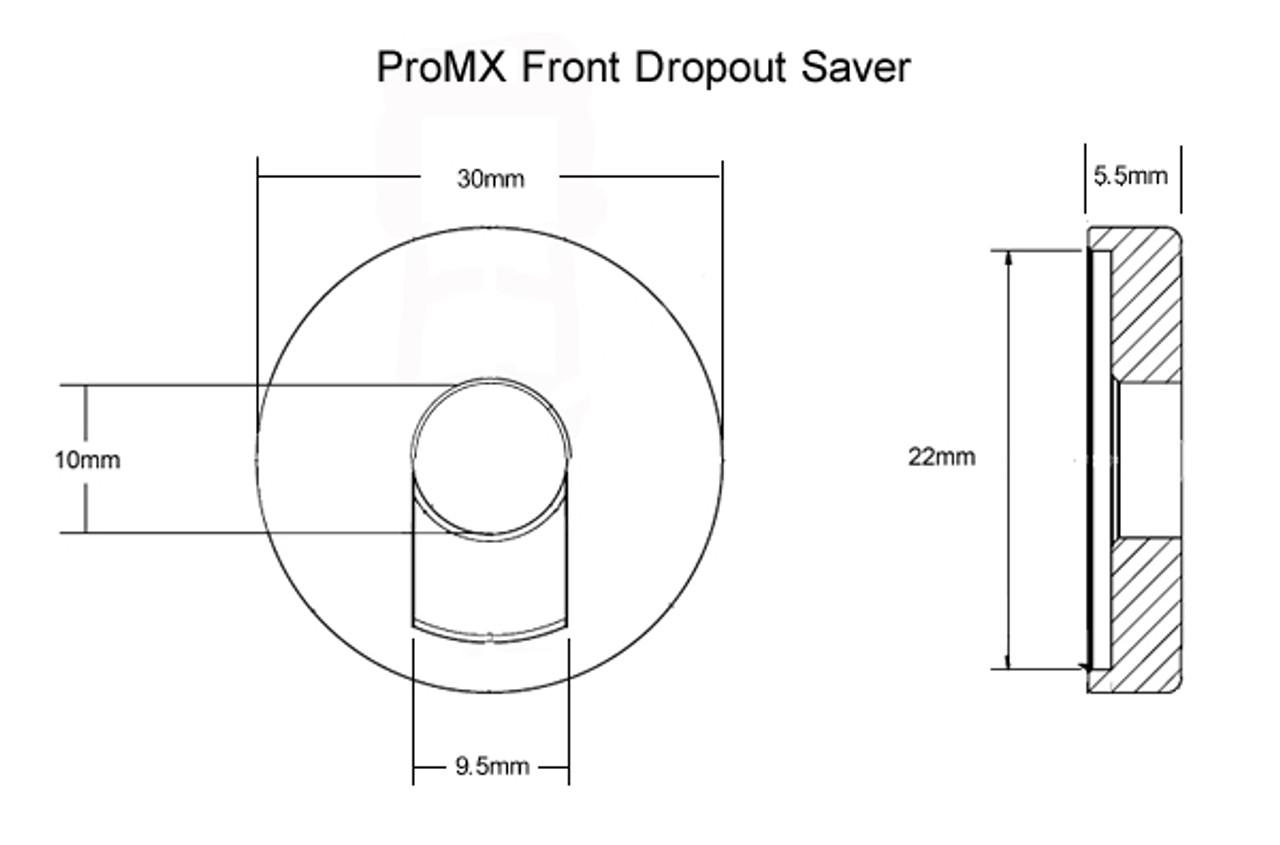 Anti-Rotation Fits 3//8 /& 10mm Axels BMX *BLACK* Dropout Savers FRONT /& REAR Set