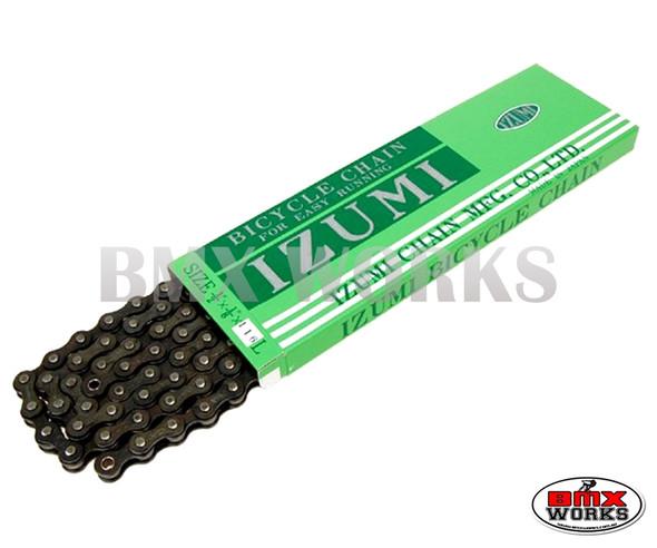 """Izumi 1/2"""" x 1/8"""" x 116 Link Chain Black"""