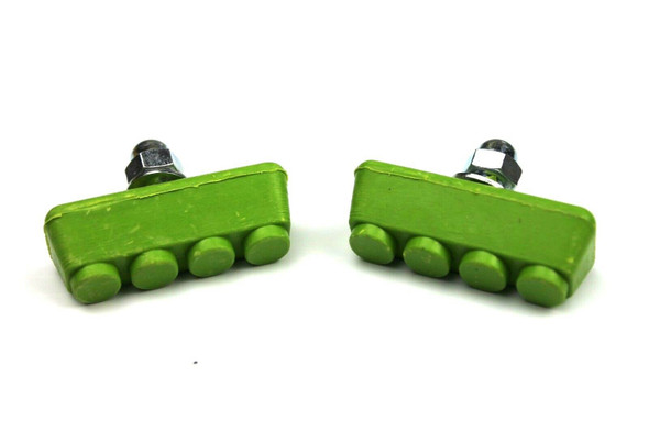 BMX Freestyle or Race Bicycle Brake Pads - Green Pairs