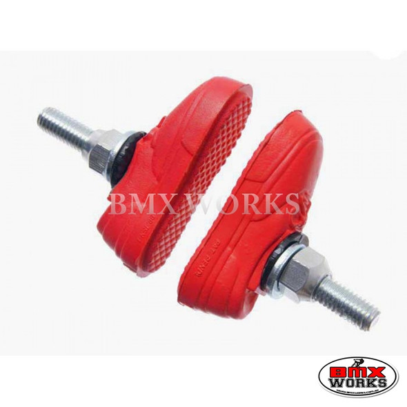 Kool Stop Vans Shoe Threaded Brake Pads - Pairs Red
