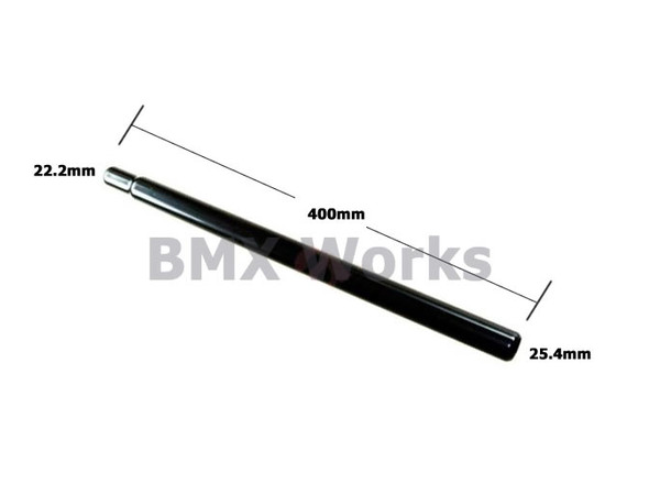 Steel Seat Post Straight 25.4mm x 400mm - Black