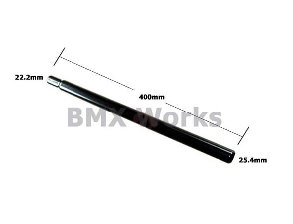 Steel Seat Post Straight 25.4mm x 400mm - Black