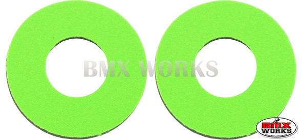 ProBMX Flite Style BMX Bicycle Foam Grip Donuts - High Green Pairs