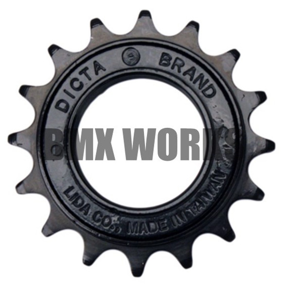 "Dicta 1/2"" x 1/8"" Free Wheel - Black 16T"