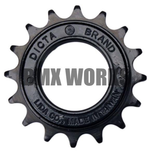"Dicta 1/2"" x 1/8"" Free Wheel - Black 16T"