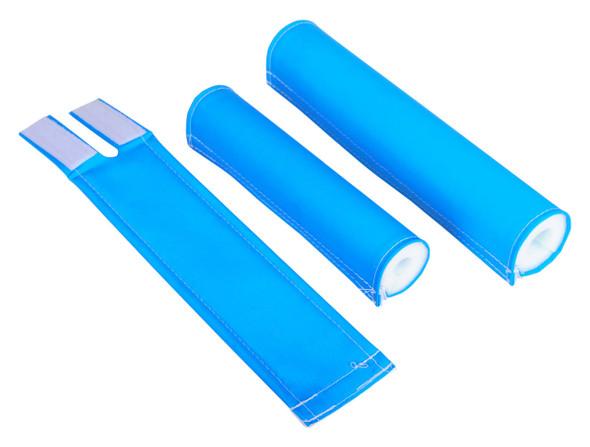 FLITE 3 Piece Nylon BMX Padset - No Logo Neon Blue