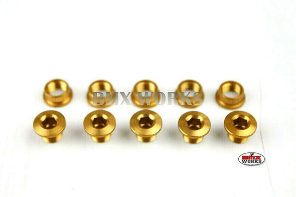 Chainring Bolt Set 5.5mm - Pack of 5 - Gold