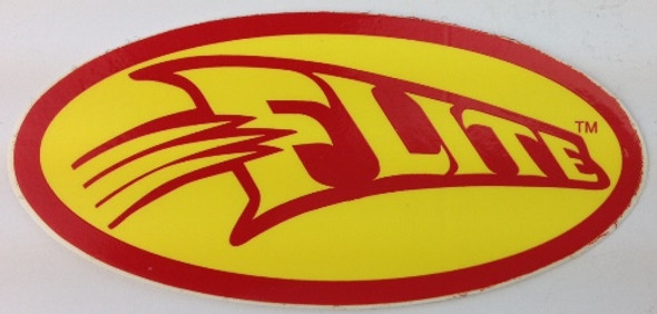 Flite Swoosh Decal - Red on Yellow