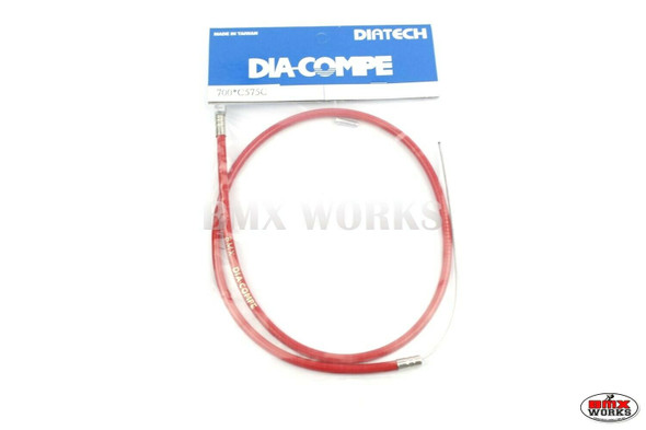 Dia-Compe BMX Logo Front Brake Cable Red
