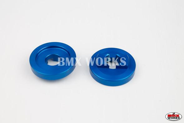 "ProBMX Alloy Rear Dropout Savers for 3/8"" Axles Blue Pair"