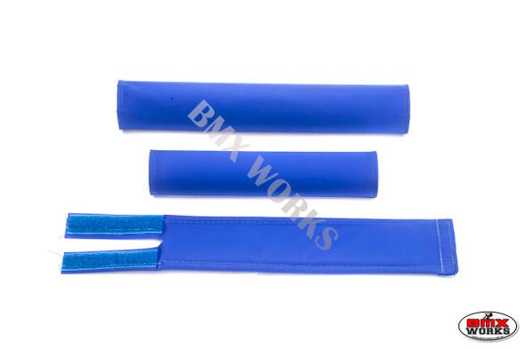 FLITE 3 Piece Nylon BMX Padset - No Logo Blue