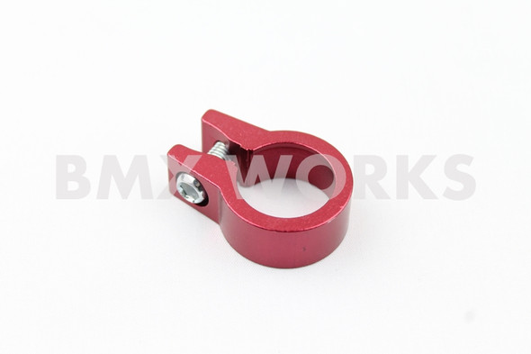 Seat Clamp Red 25.4mm Anodized Aluminium Single Bolt