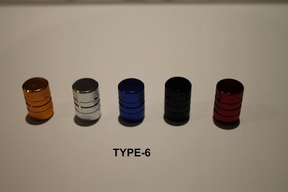 Valve Cap Type #6 Anodized Colours - 1 Pair