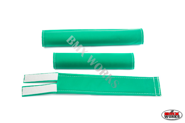 FLITE 3 Piece Nylon BMX Padset - No Logo Green