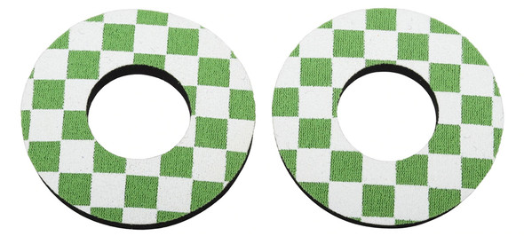 ProBMX Flite Style BMX Bicycle Foam Grip Donuts - Checker Green & White
