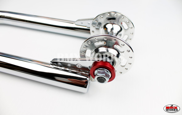 """ProBMX Alloy Front & Rear Set Dropout Savers for 3/8"""" Axles Red"""