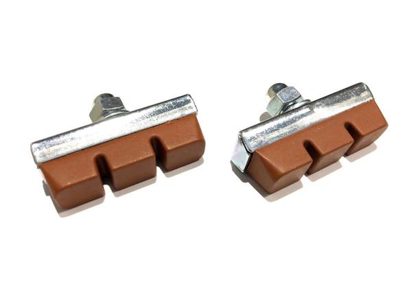 Brake Pad Genuine Dia-Compe Silver with Salmon Pad Pairs