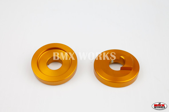 "ProBMX Alloy Front Dropout Savers for 3/8"" Axles Gold Pair"