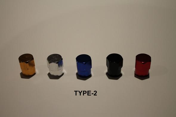 Valve Cap Tyre #2 Anodized Colours - 1 Pair