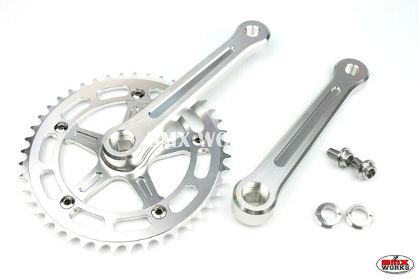ProBMX 3 Piece Crank Set 170mm Silver