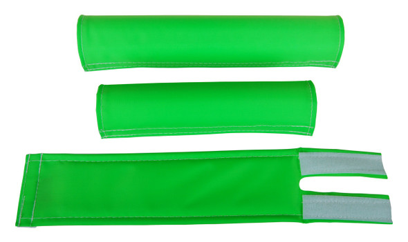 FLITE 3 Piece Nylon BMX Padset - No Logo Neon Green