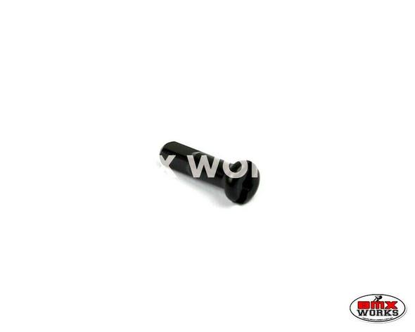 14G x 16mm Aluminium Spoke Nipples Black - Each