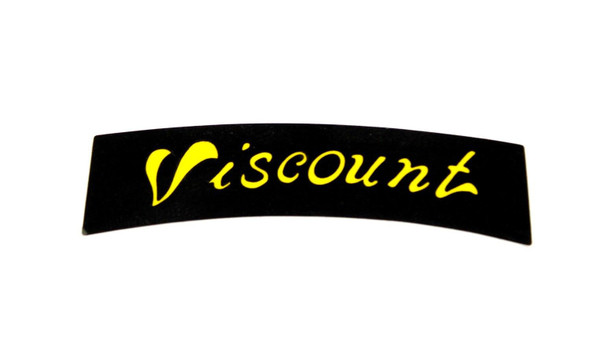 Viscount Seat Decal - Black with Yellow Print