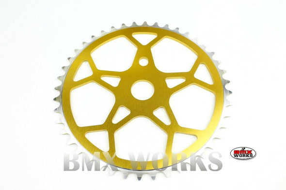 ProBMX Snowflake BMX Chainwheel 44 Teeth - Gold
