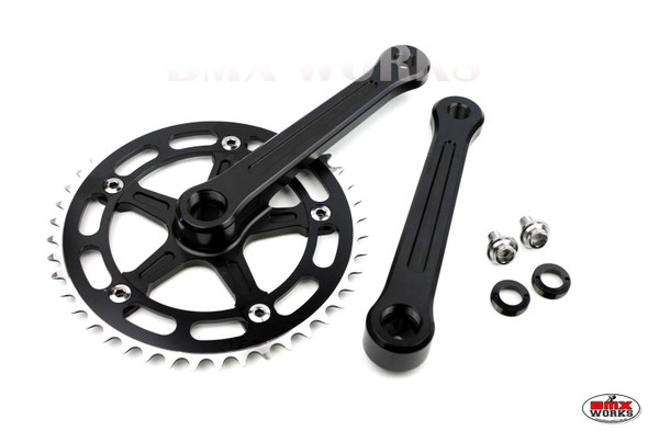ProBMX 3 Piece Crank Set 170mm Black