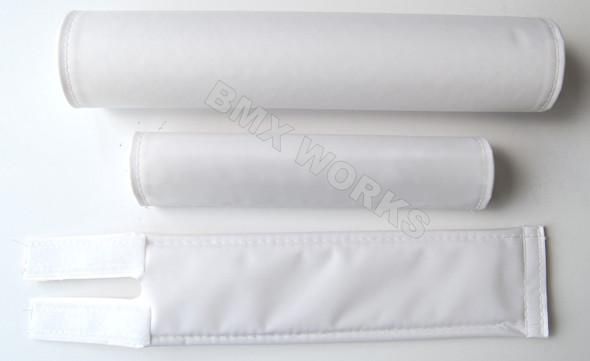 FLITE 3 Piece Nylon BMX Padset - No Logo White
