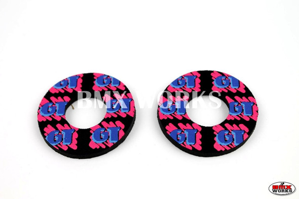 ProBMX Flite Style GT Freestyle Black & 3 Colour Grip Donuts