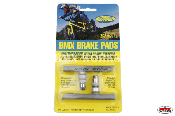 Kool Stop BMX Brake Pads Silver - Sold In Pairs