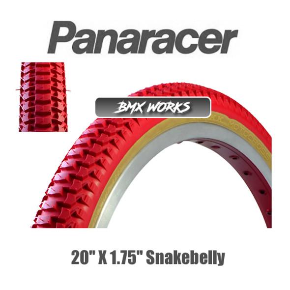 """Panaracer NTKK Snakebelly Tyre 20""""' x 1.75"""" Red"""